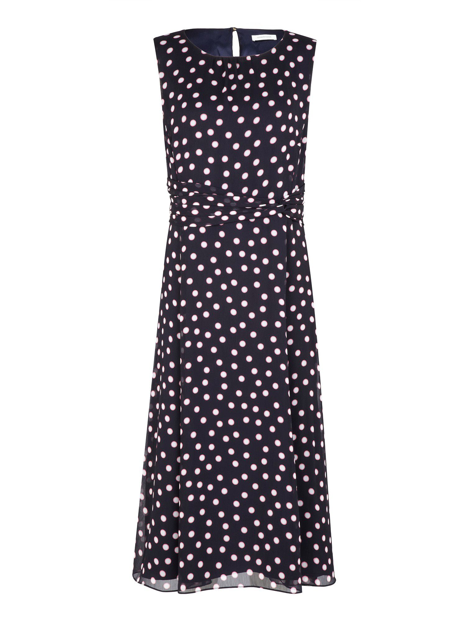 Shadow spot print dress