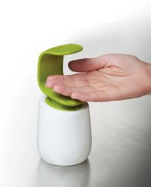 Soap Dispenser, White / Green