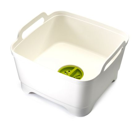 Joseph Joseph Wash and Drain Washing Up Bowl - White/Green