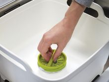 Wash and Drain Washing Up Bowl - White/Green