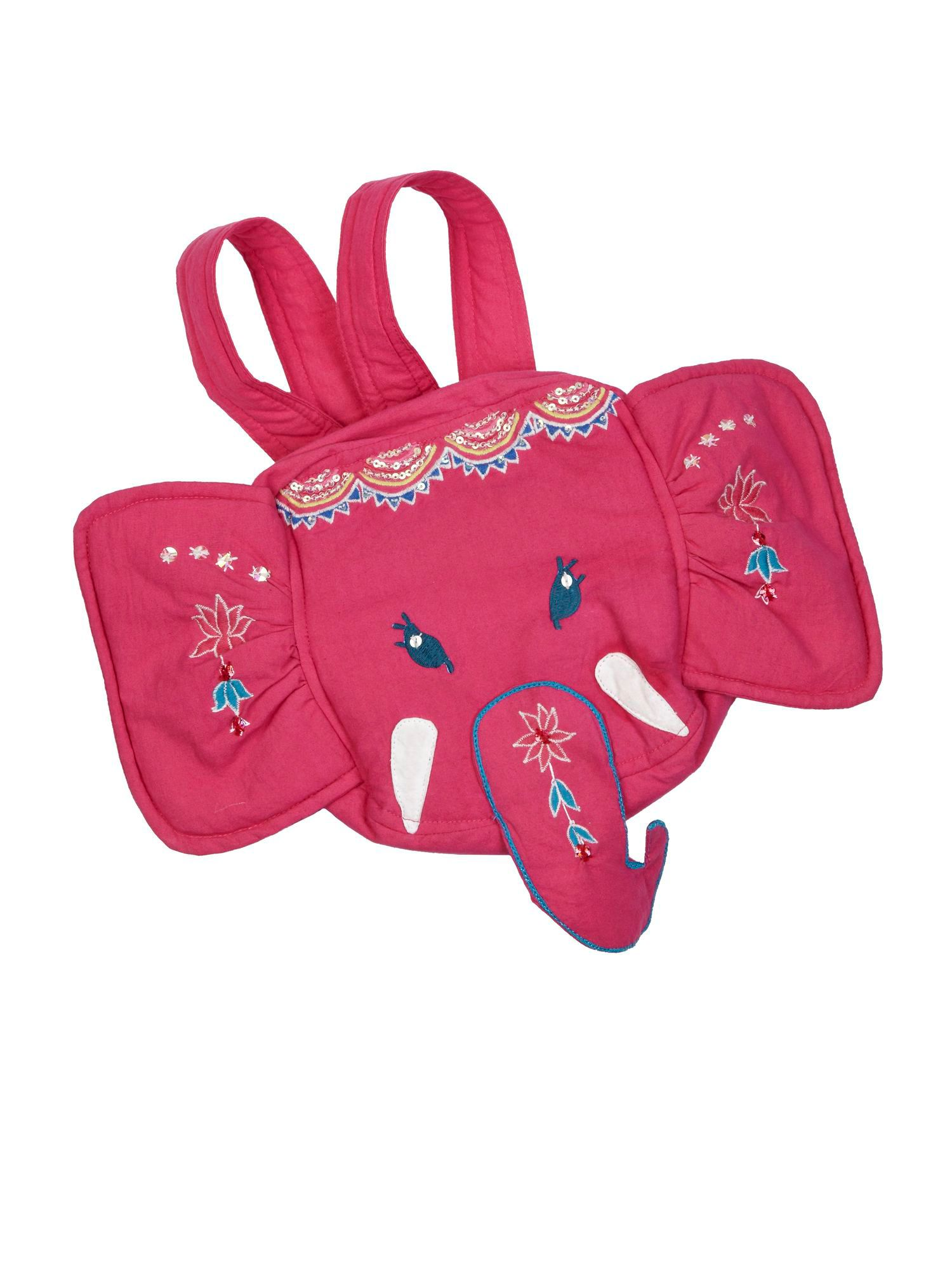 Girl`s Elephant Cotton Backpack
