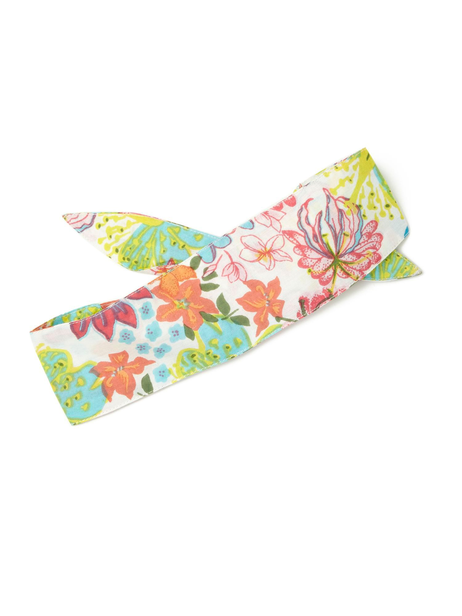 Girl`s tropical floral print headband