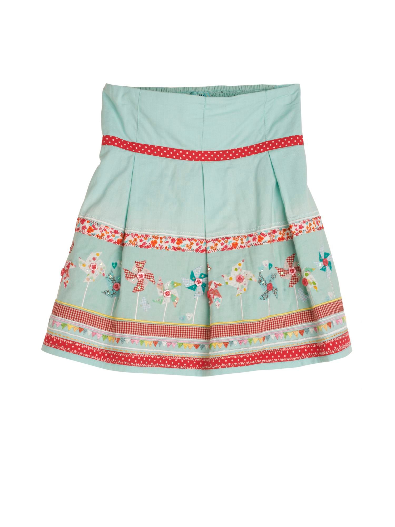 Girl`s Windmill Border Cotton Skirt