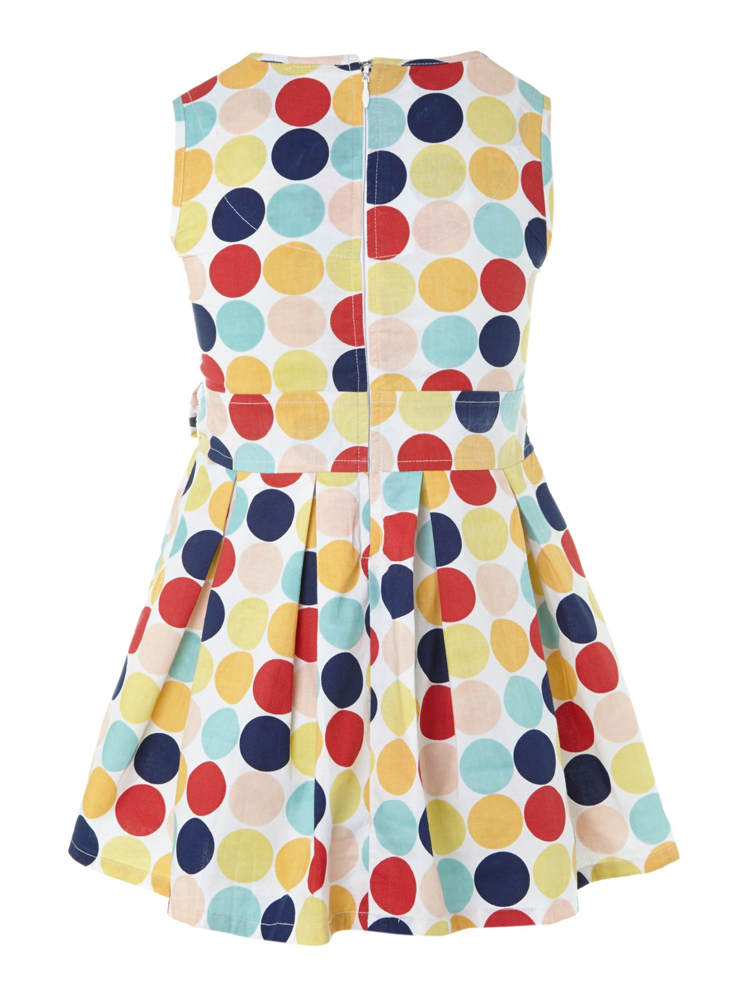 Girl`s Polka dot trim dress