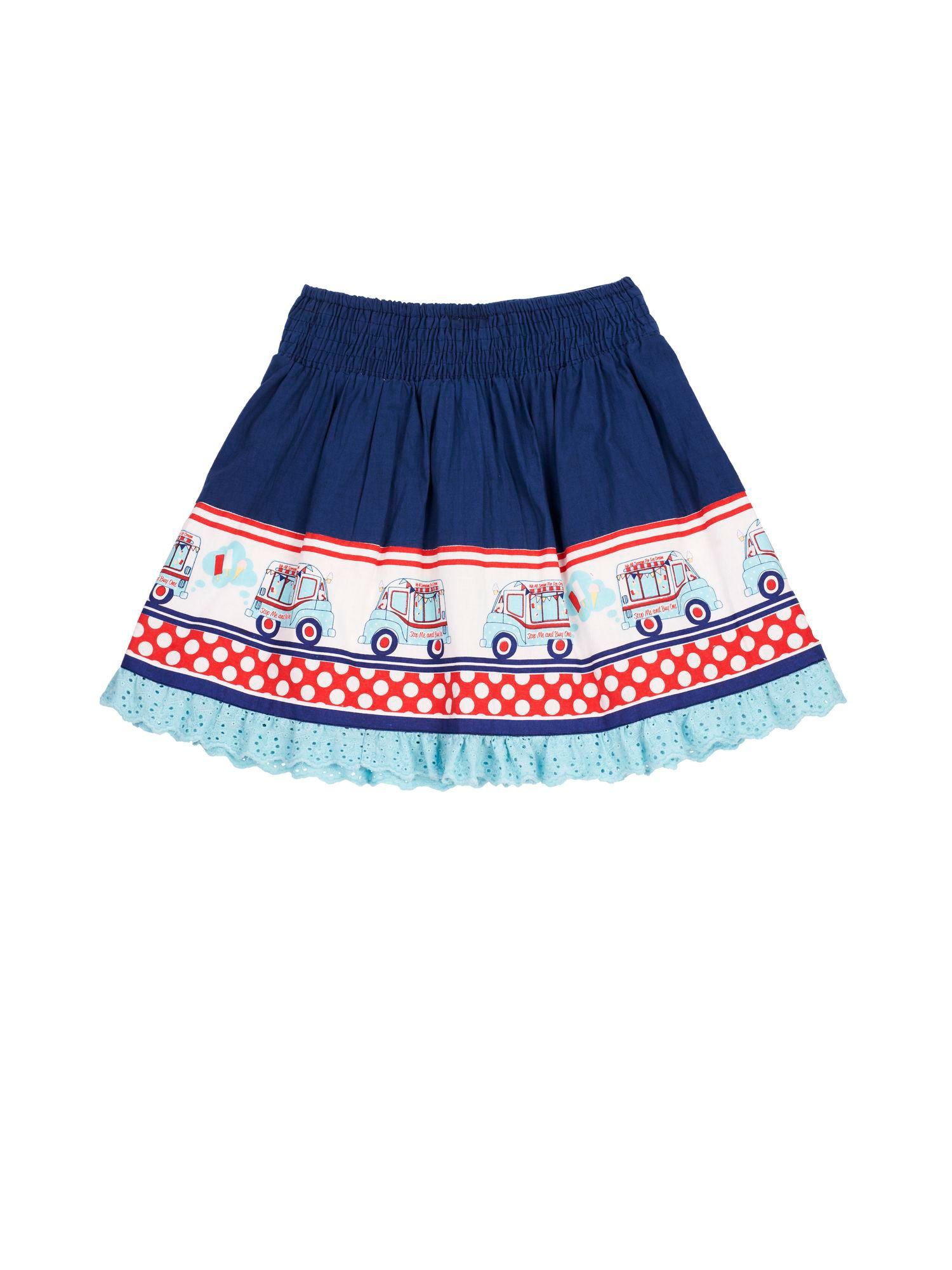 Girl`s Ice Cream Van Border Skirt
