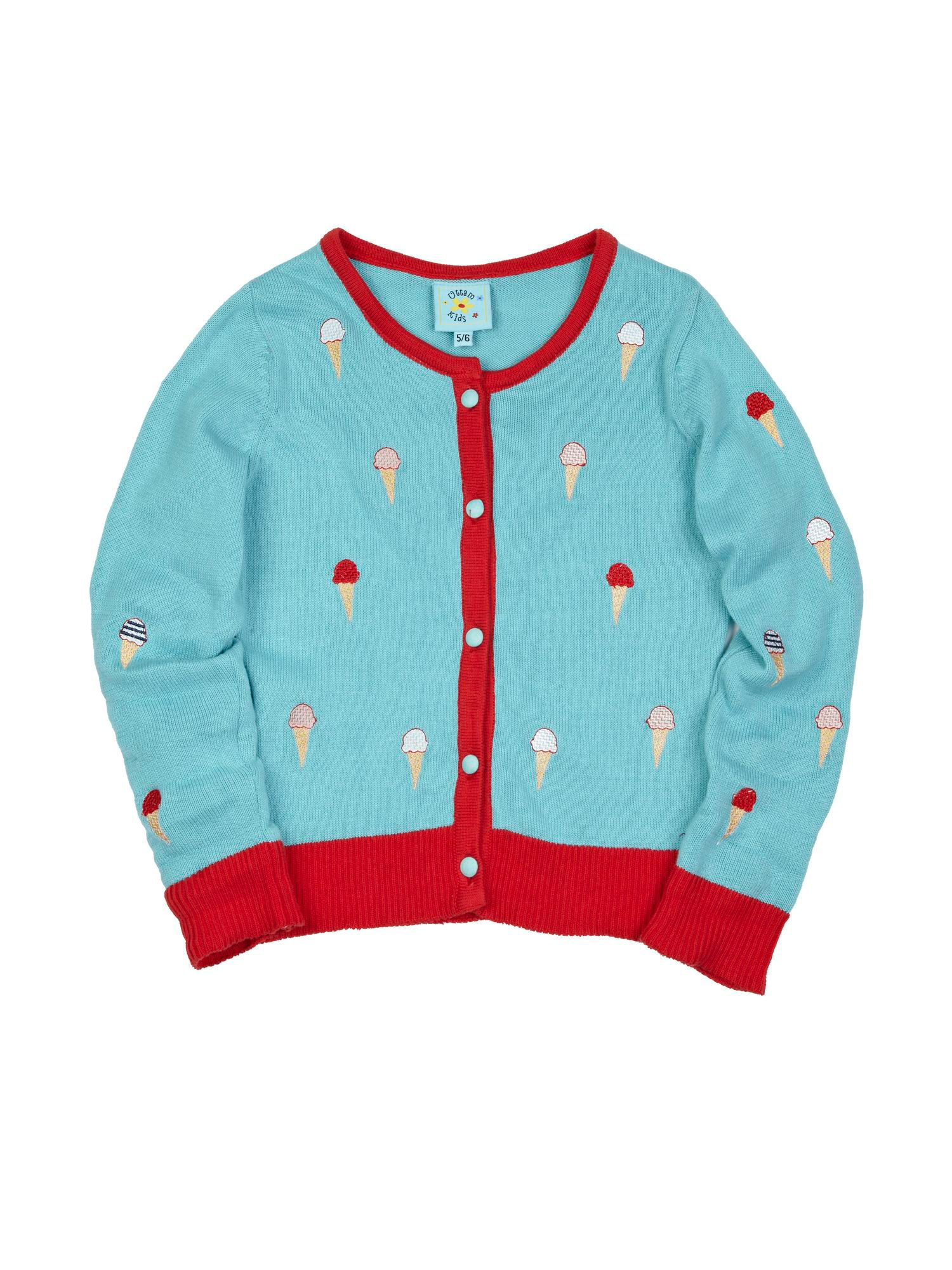 Girl`s Ice Cream Cone Cardigan