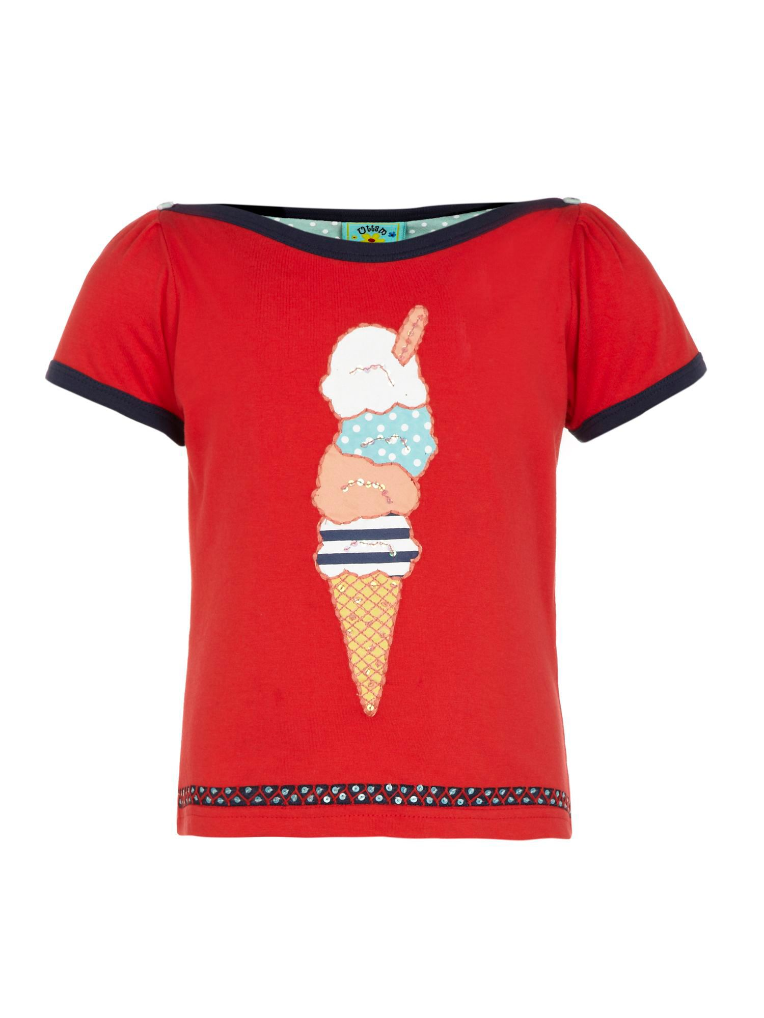 Girl`s Ice Cream Print T-shirt