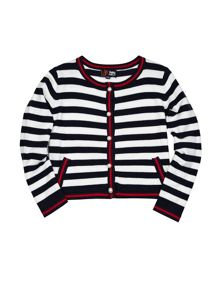 Girl`s Striped Cardigan