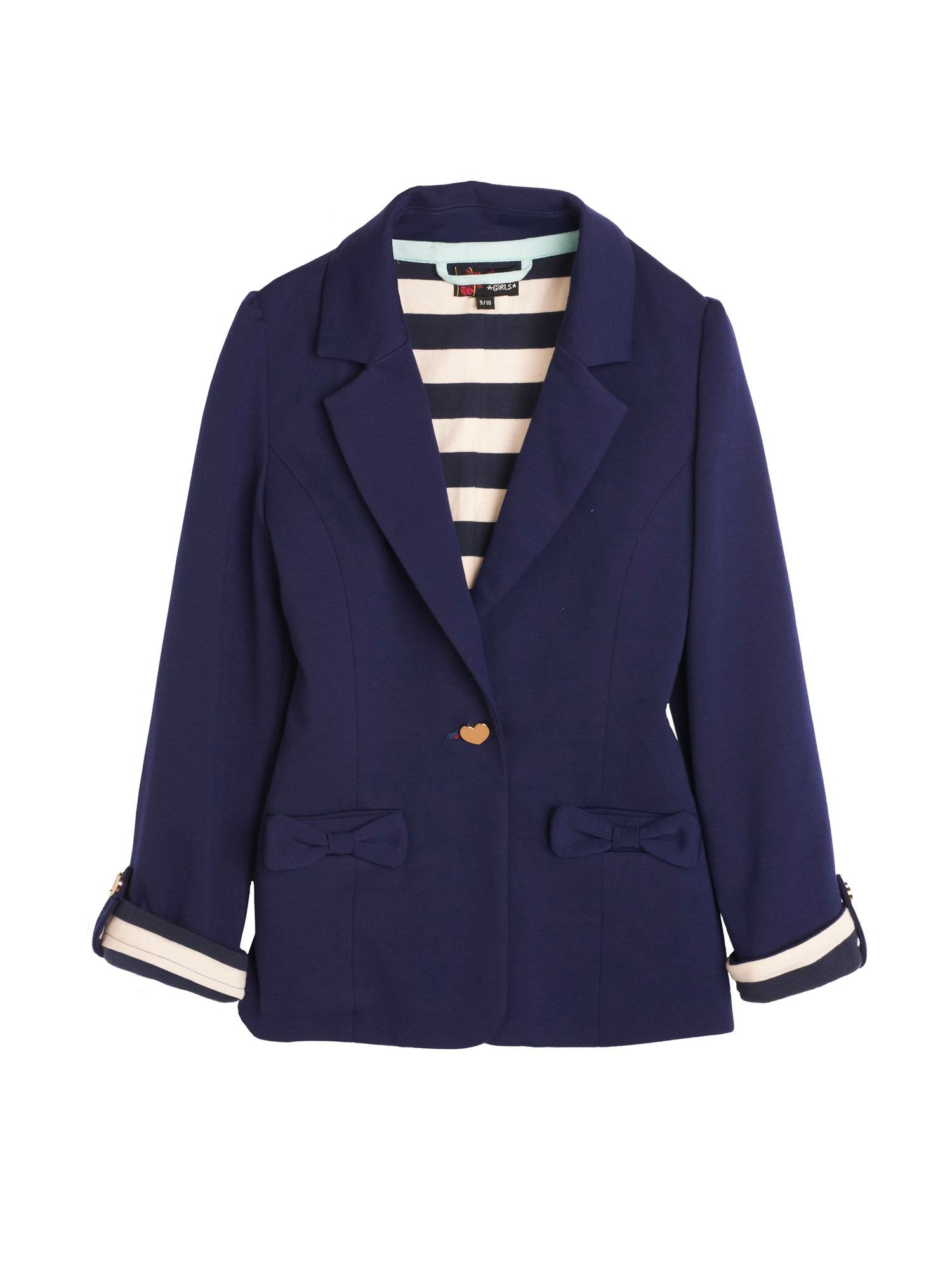 Girl`s Jersey Blazer Jacket