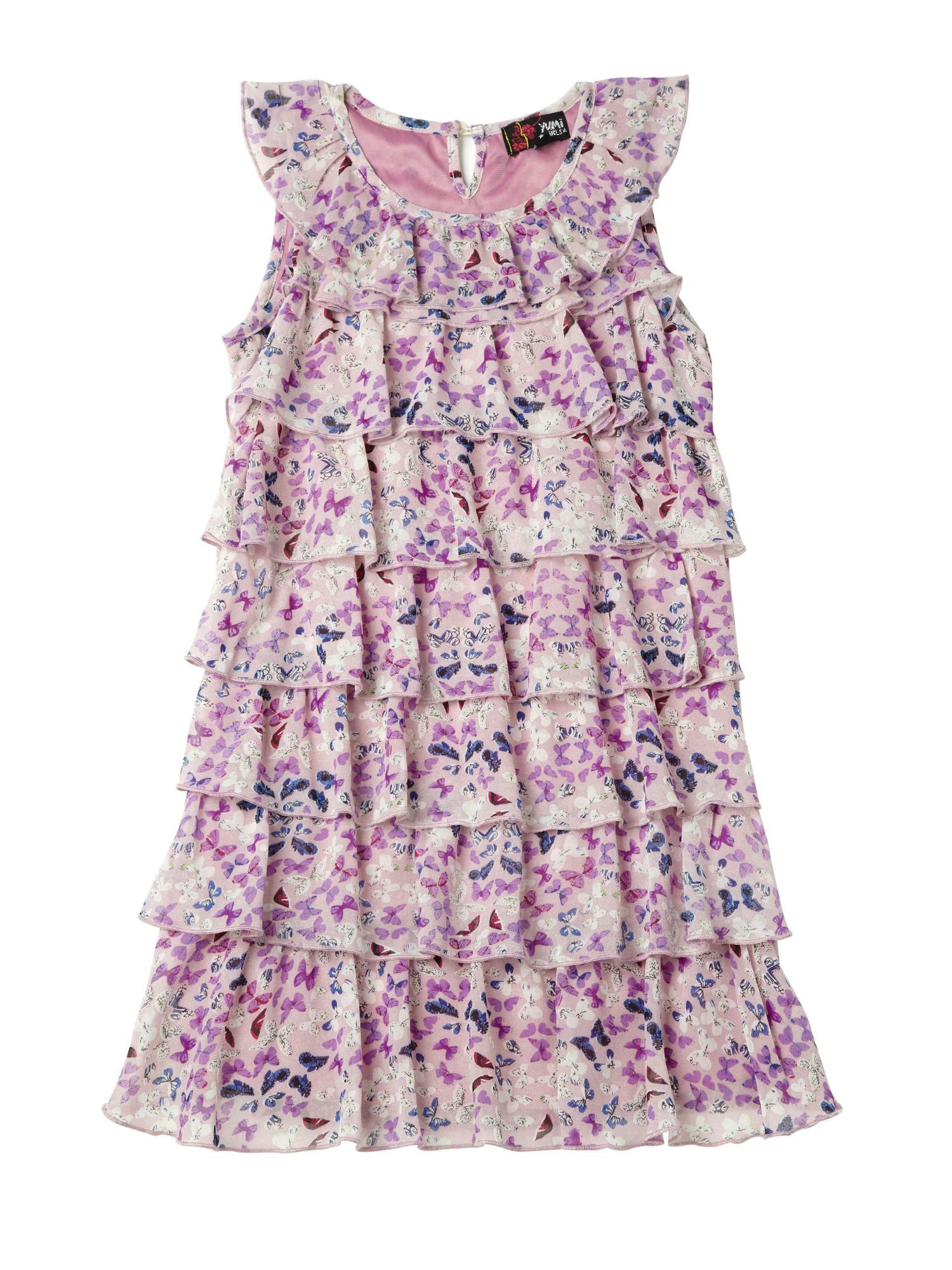 Girl`s Butterfly Ruffle Party Dress