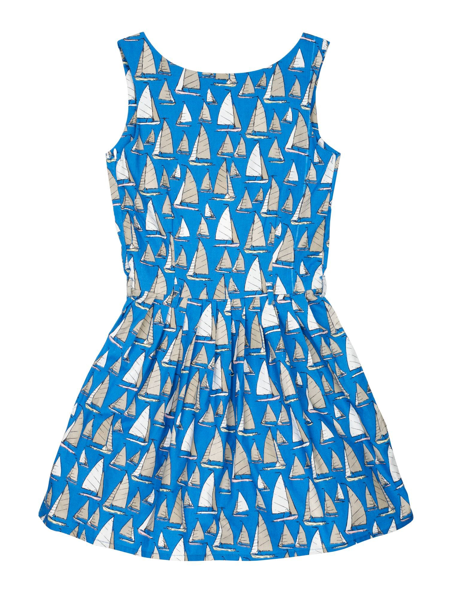 Girl`s Boat Print Dress