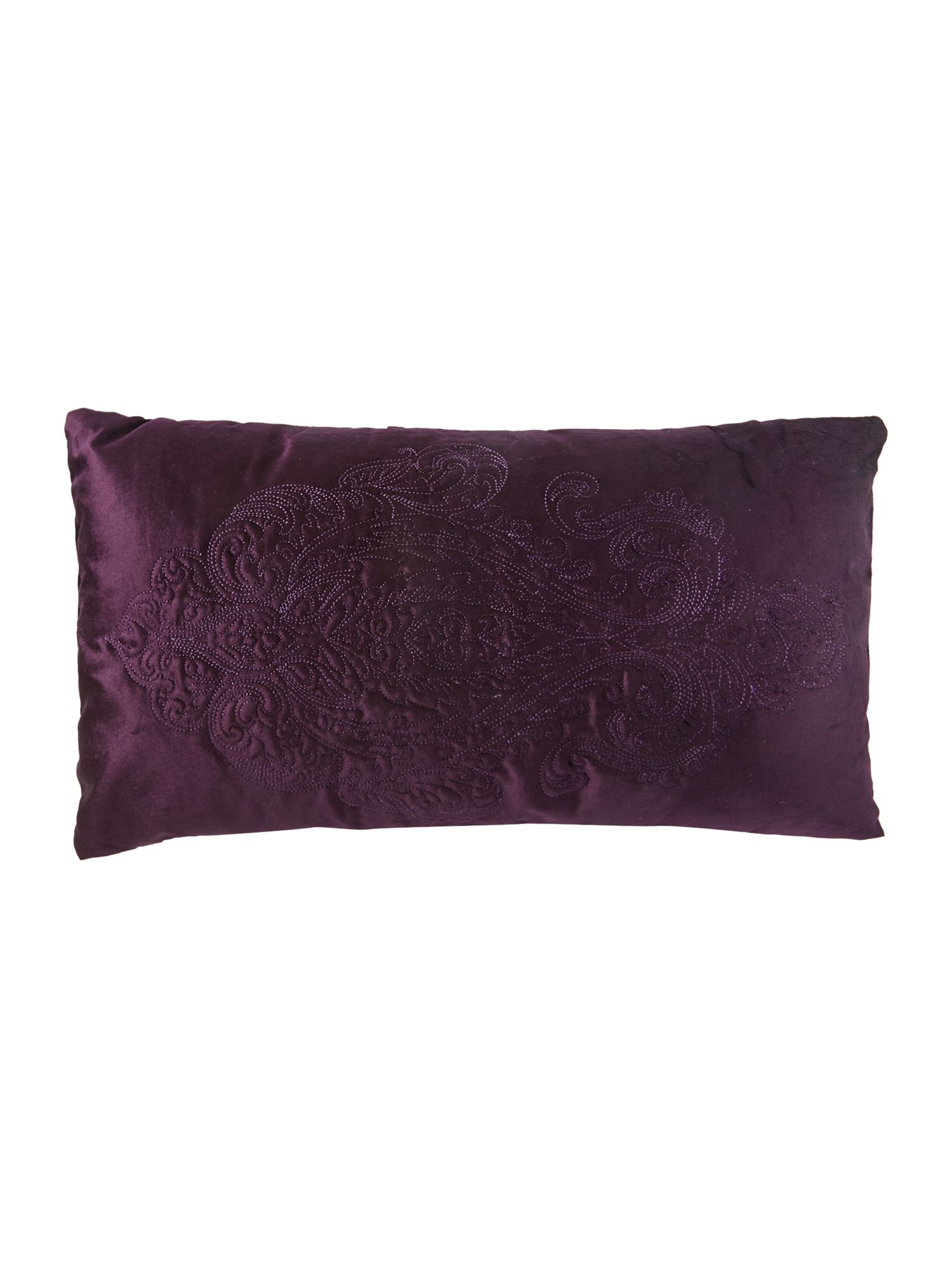 Zelda cushion in orchid purple