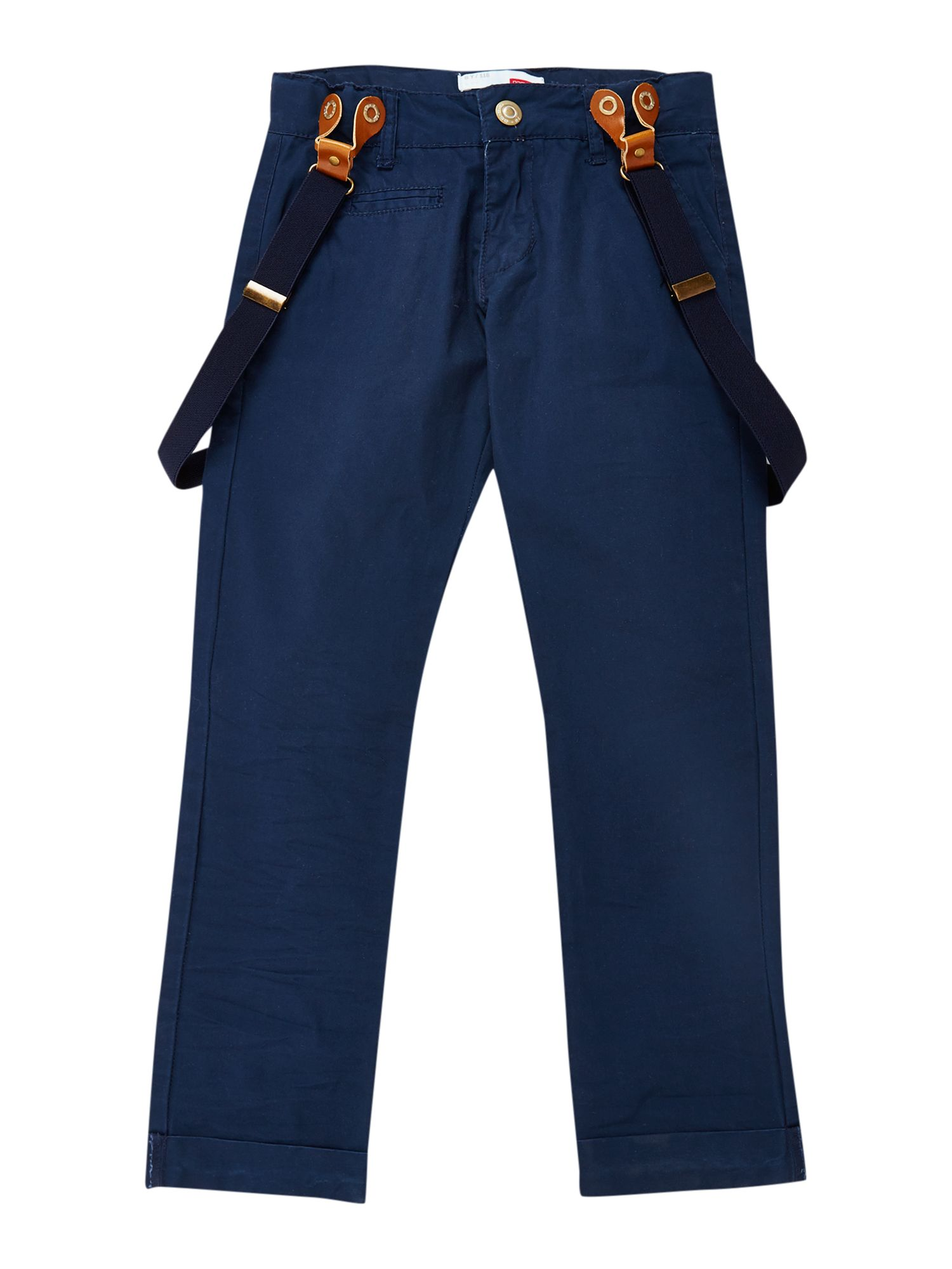 Boy`s twill trousers with braces
