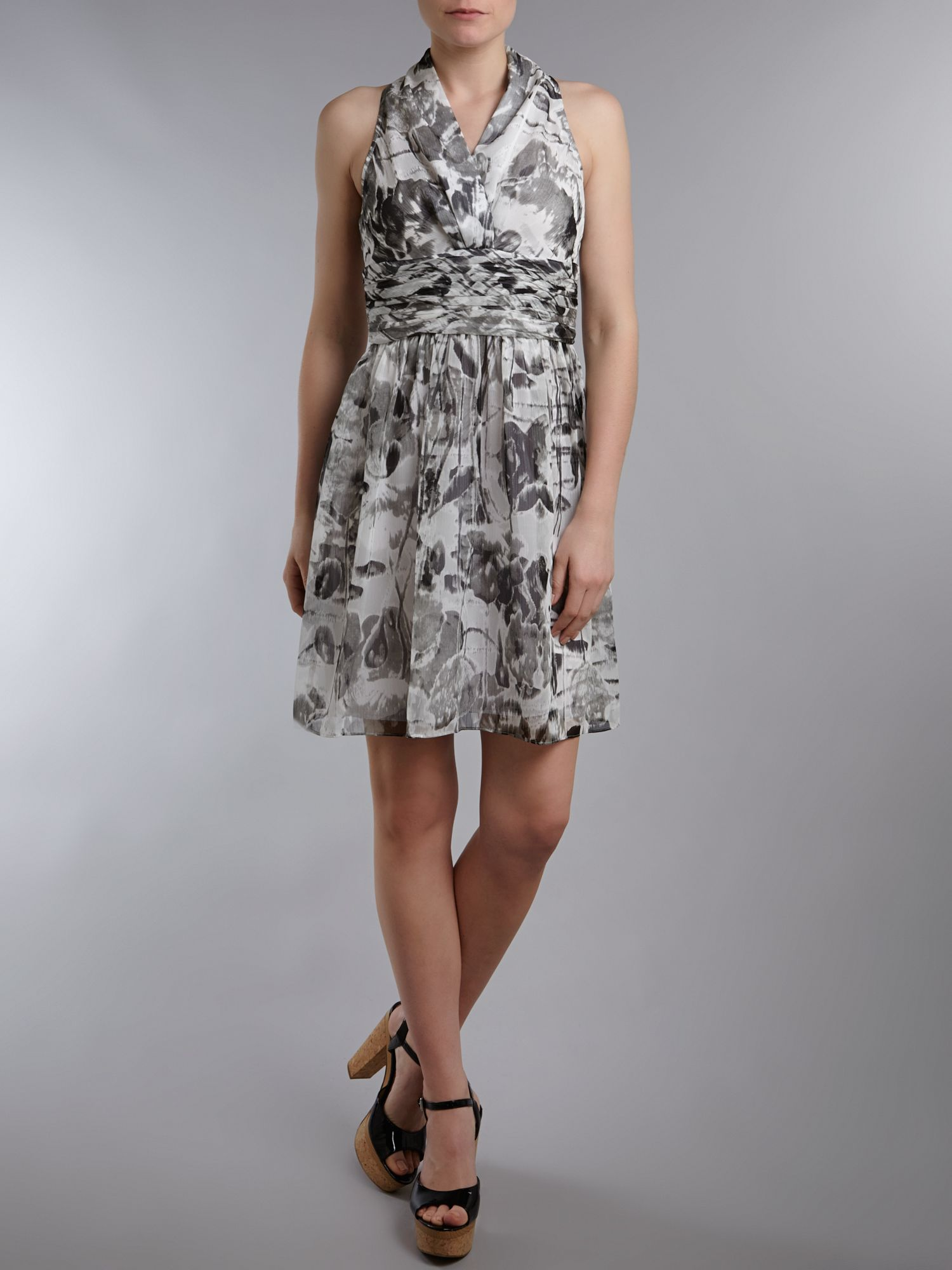 Printed halterneck dress