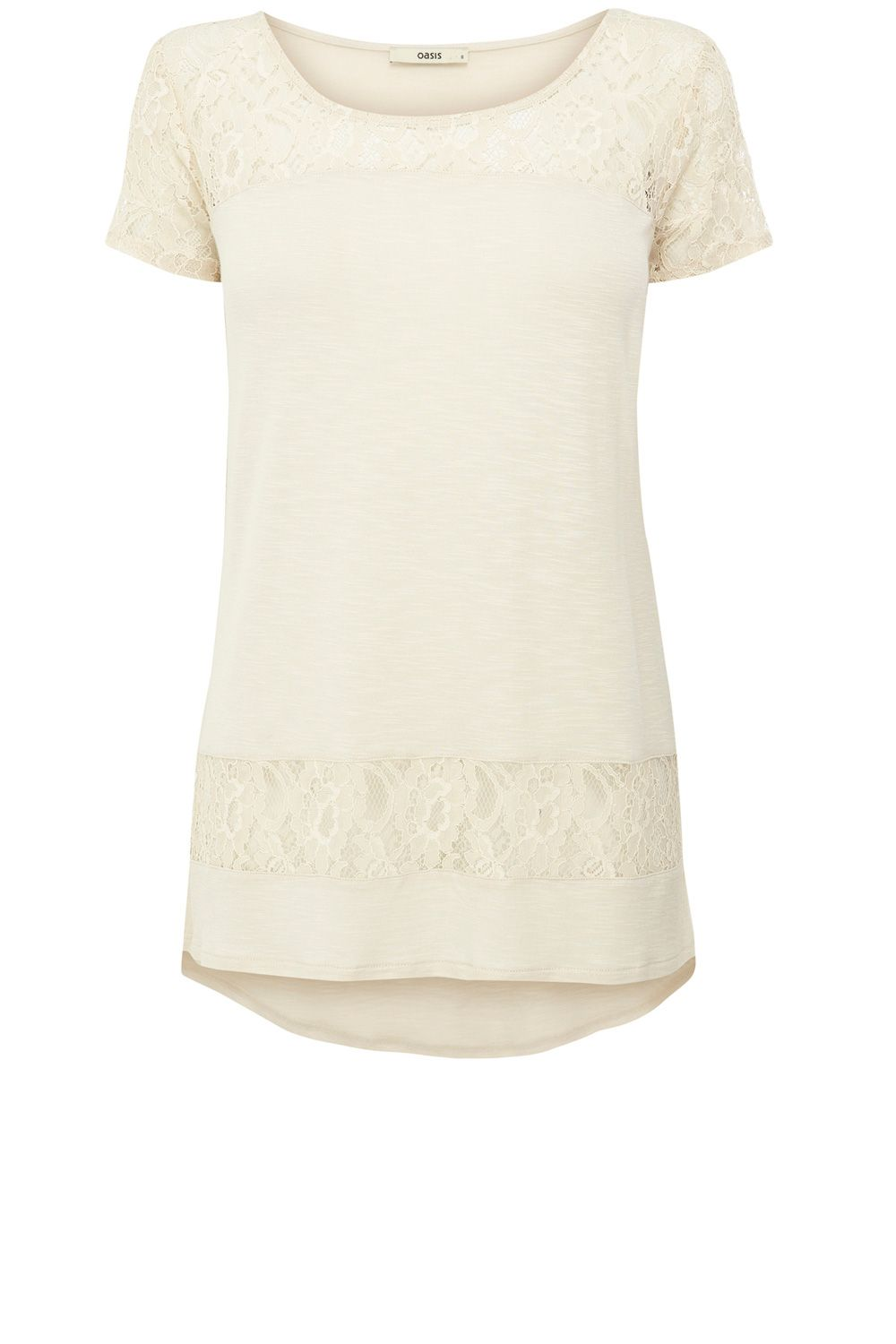 Lace mix formal tee