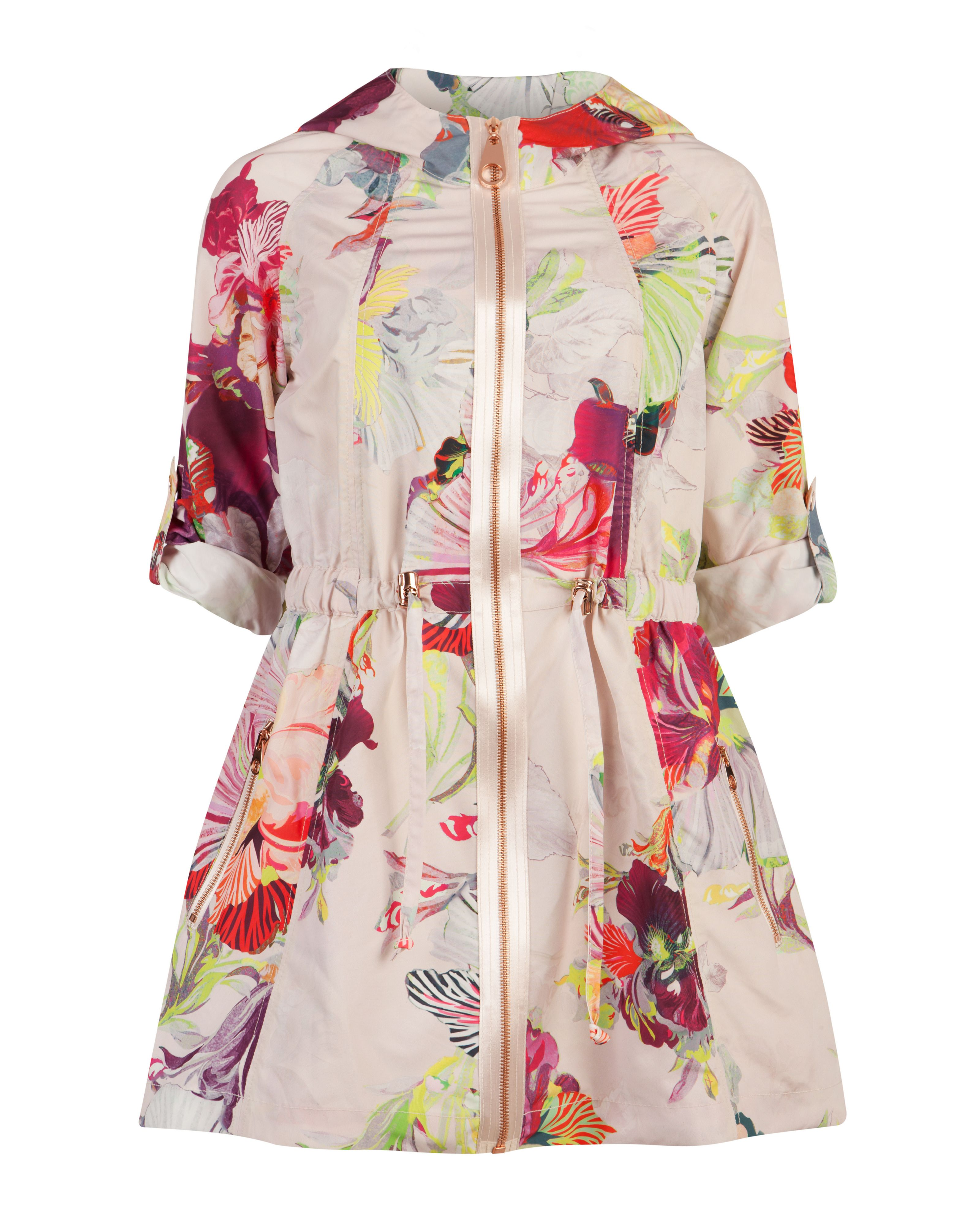 Garnia treasured orchid print parka