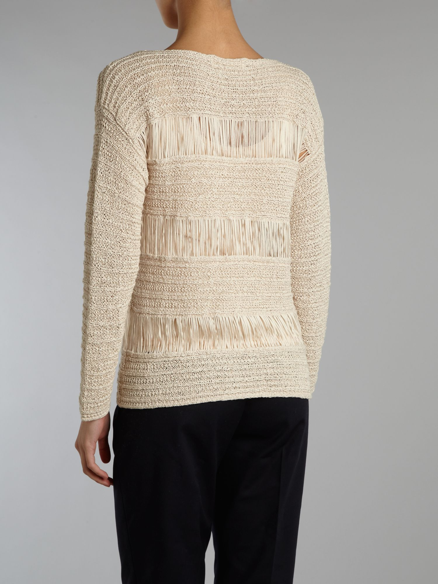 Long sleeved loose knit top
