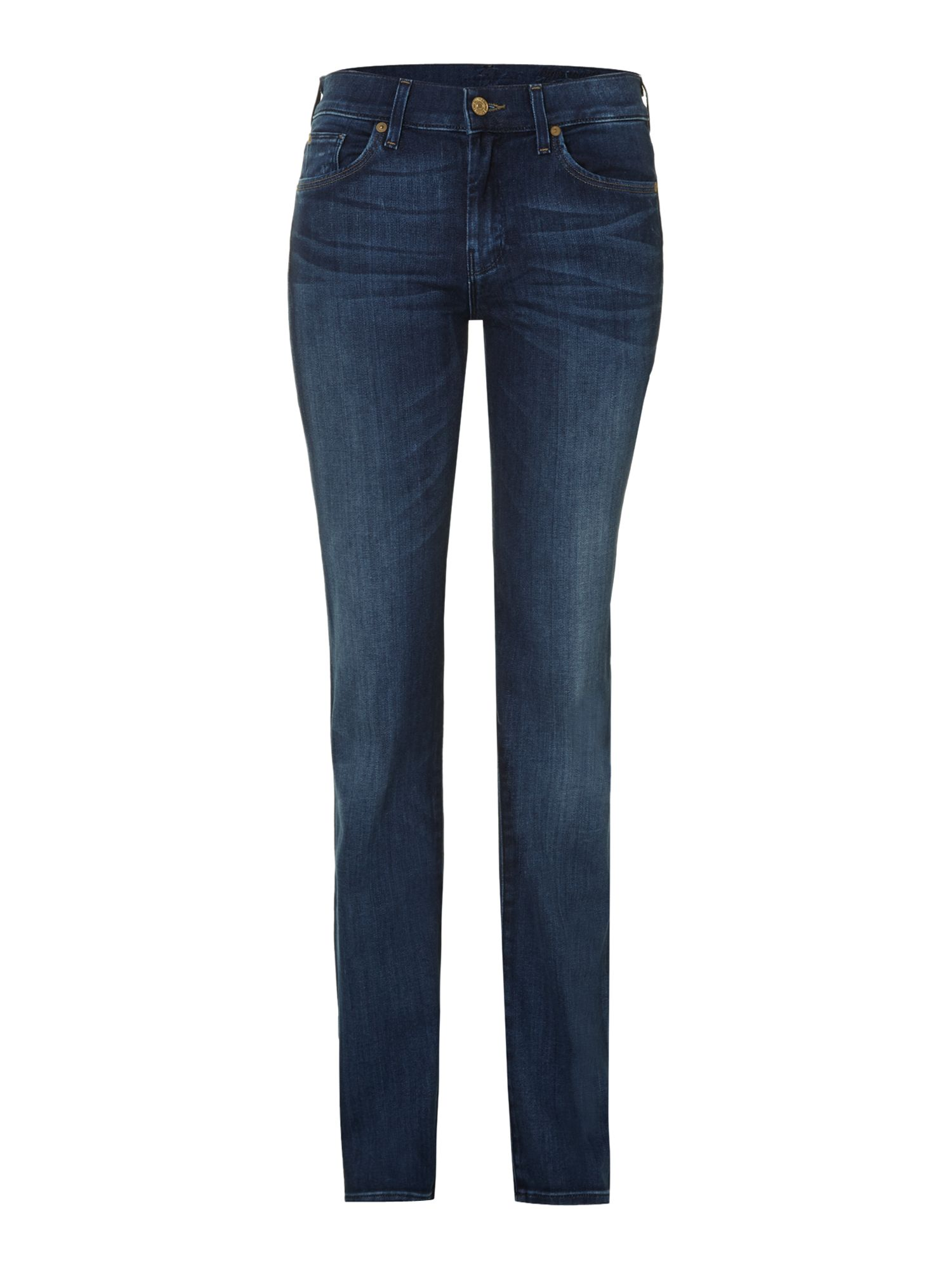 High waist straight leg jeans in Pacific Shadows