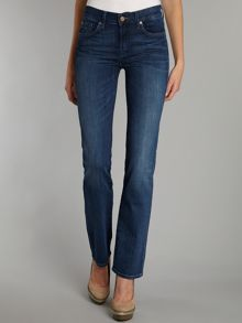 7 For All Mankind High waist straight leg jeans in Pacific Shadows