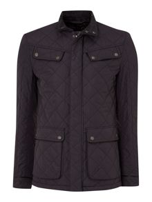 Sebasian Quilted Coat with Trim Detail