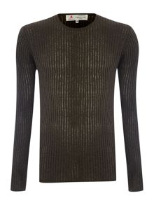 Preston Scoop Neck Ribbed Jumper