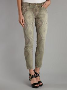The Stiletto Skinny navajo jeans in Army Green
