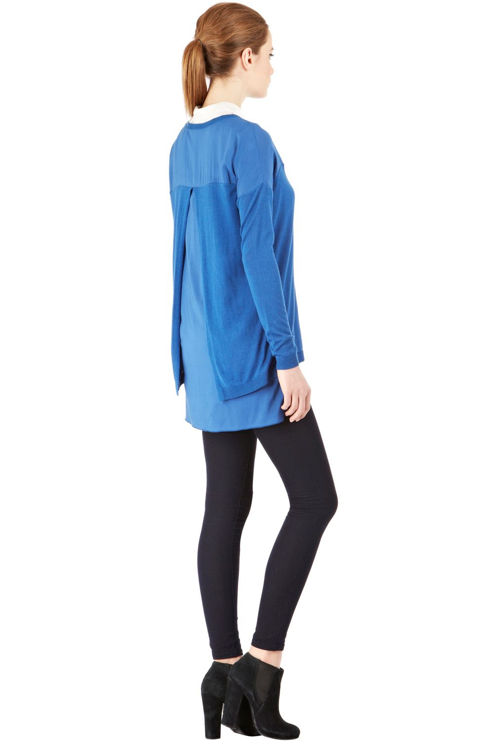 Chiffon pleat back jumper