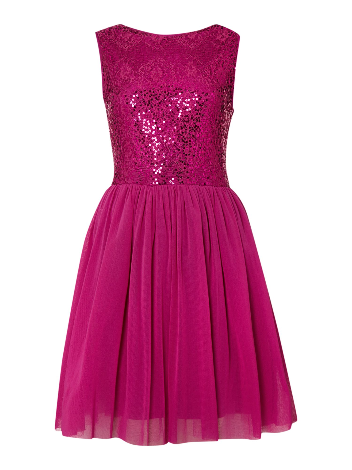 Sequin tulle skater dress