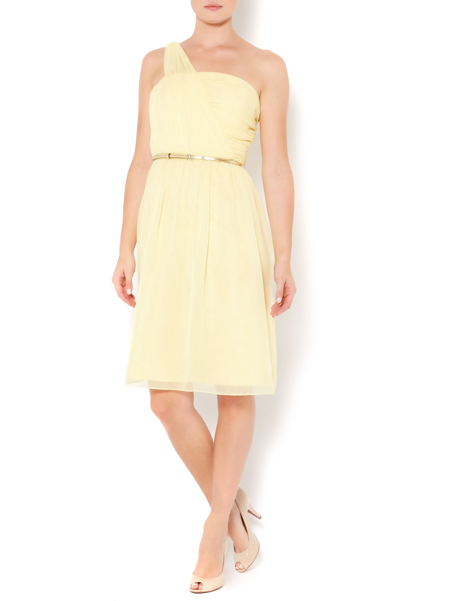 Chiffon one shoulder dress