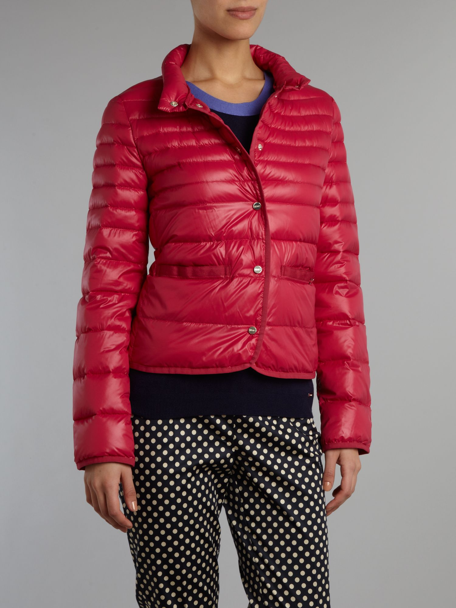 Long sleeved funnel neck puffa jacket