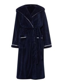 Cosy soft robe with hood