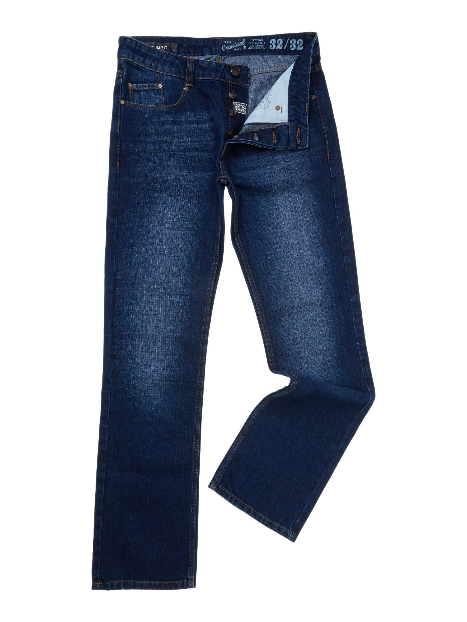True indigo denim jeans