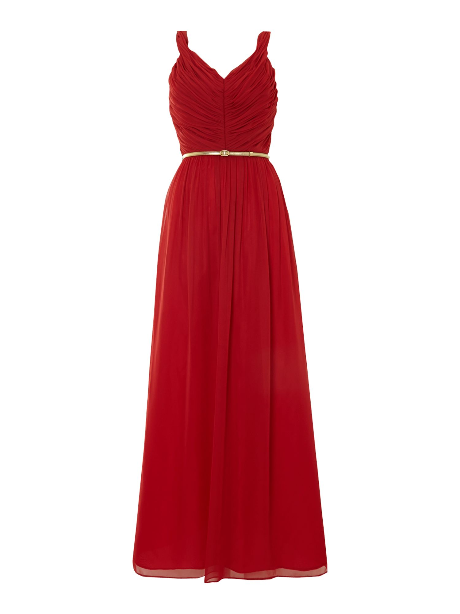 Chiffon Strappy V-Neck Maxi Dress