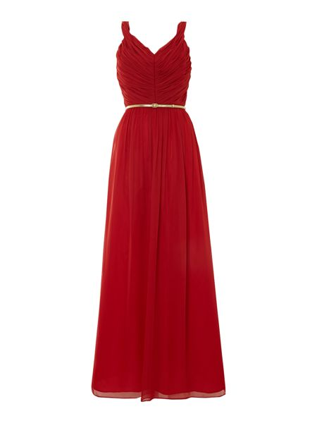 Untold Chiffon Strappy V-Neck Maxi Dress