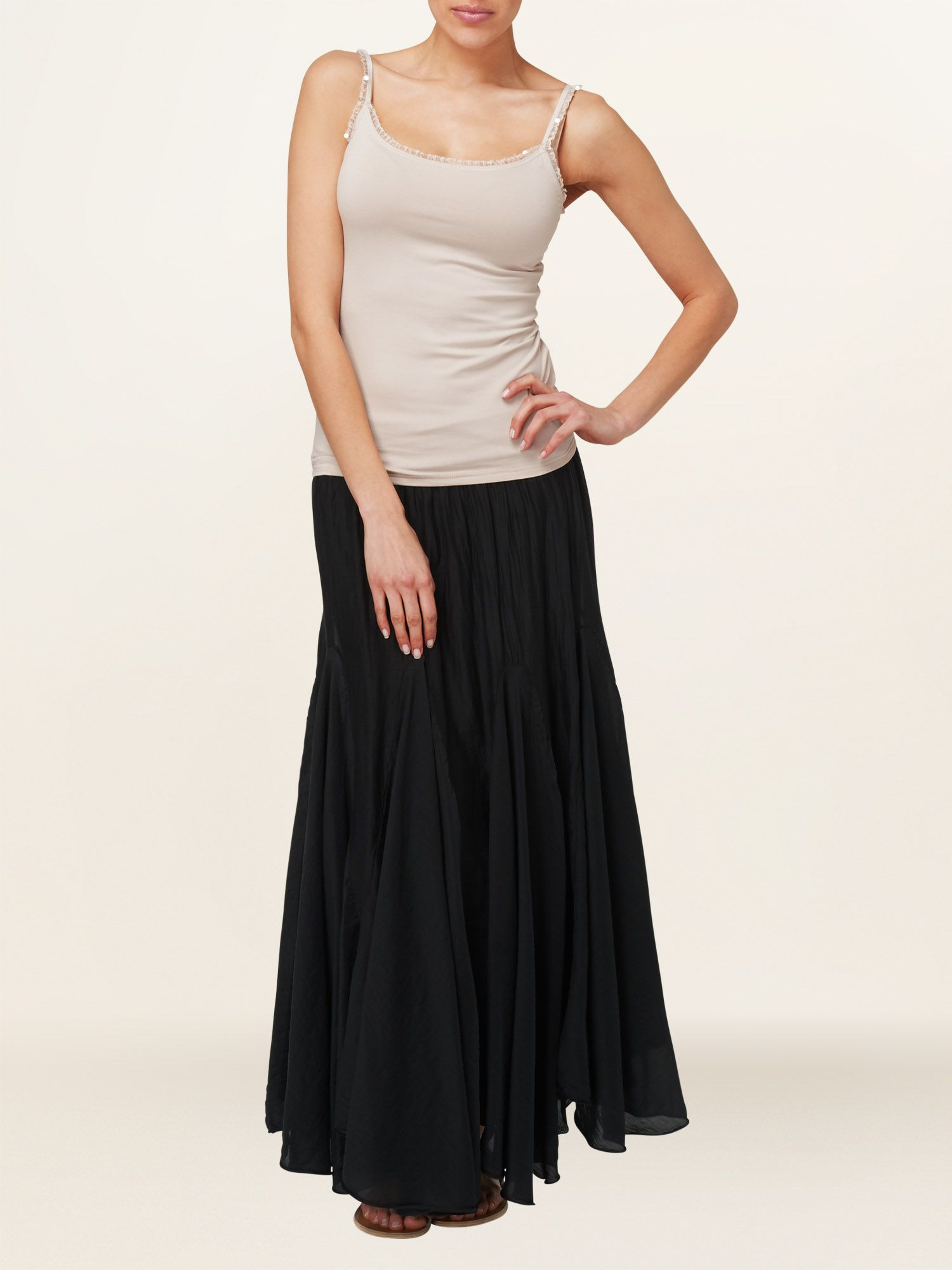 Anastasia cotton silk maxi skirt