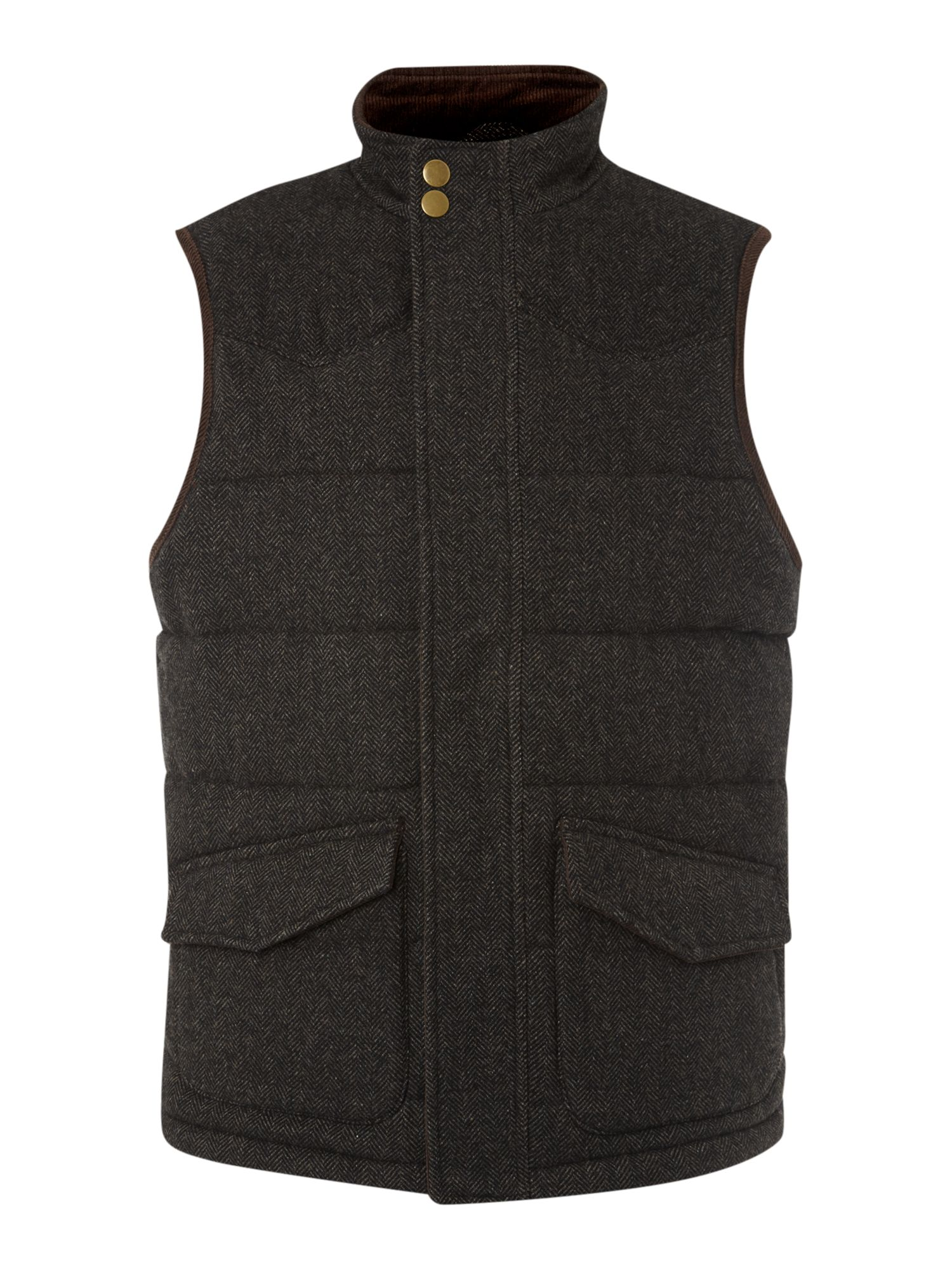 Hayfield tweed gilet