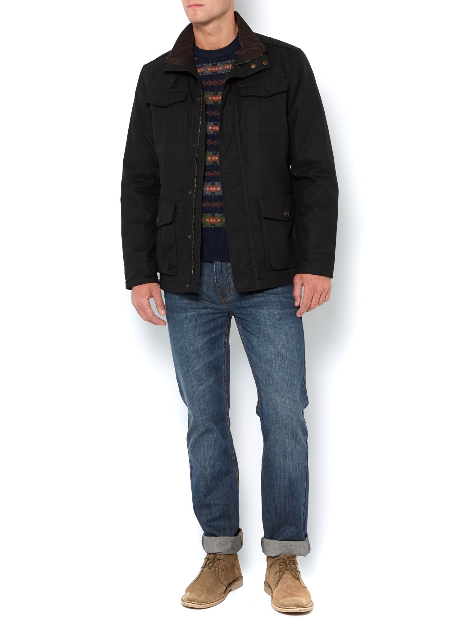 Bamford four pocket belted jacket