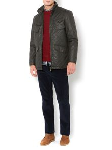 Buxton four pocket waxy quilted jacket