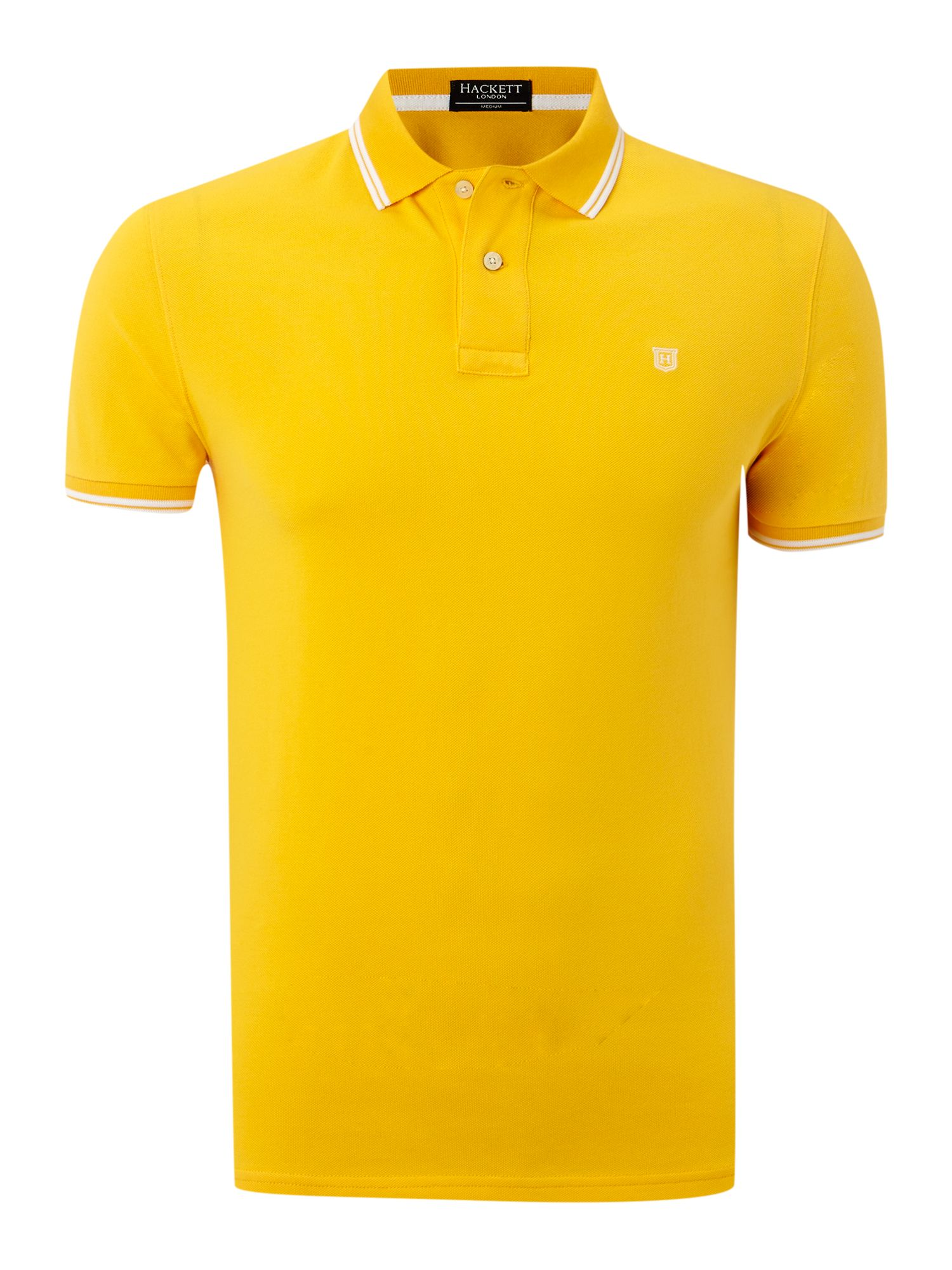 Regular fit double tip polo shirt
