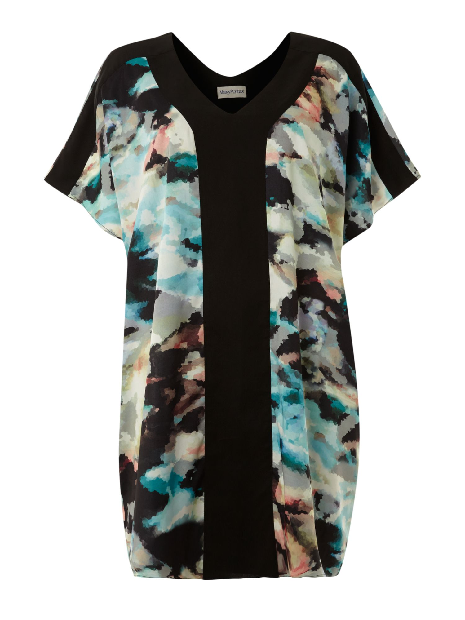 Printed and bonded square dress