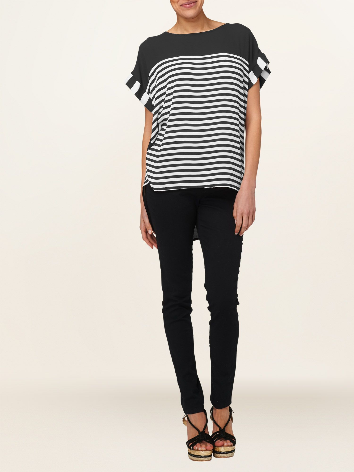 Alexia stripe top