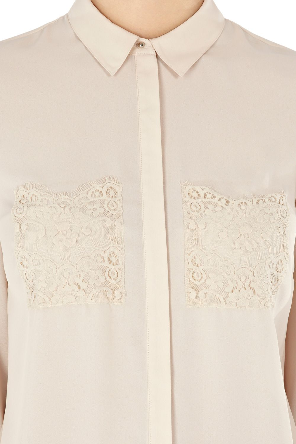 Lace pocket blouse