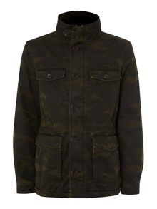 Brody garment dyed four pocket camo jacket