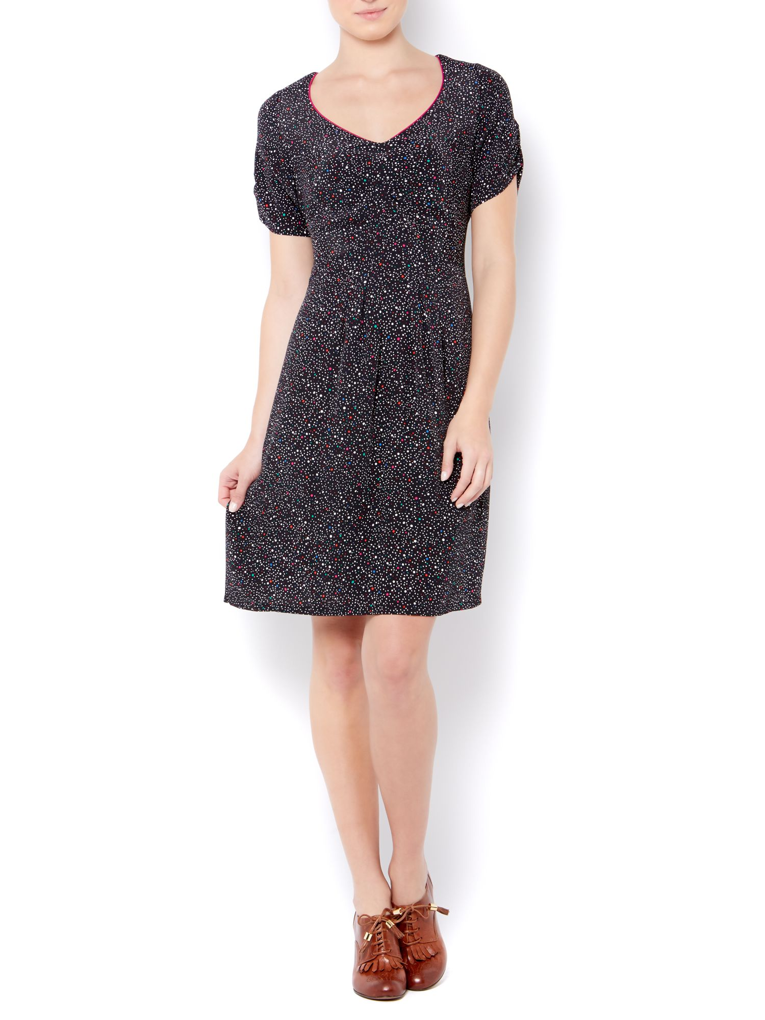 Ladies spot print dress