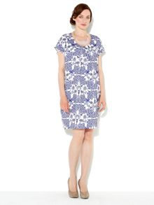 Tuck front cocoon dress
