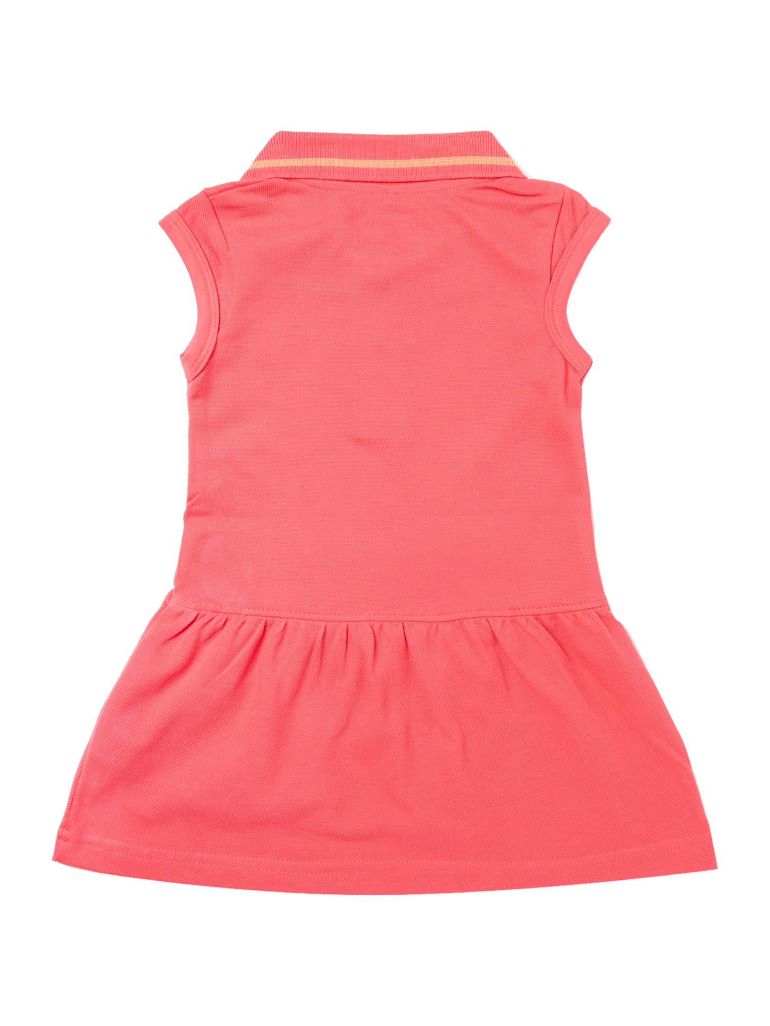 Girl`s cap-sleeve tennis dress
