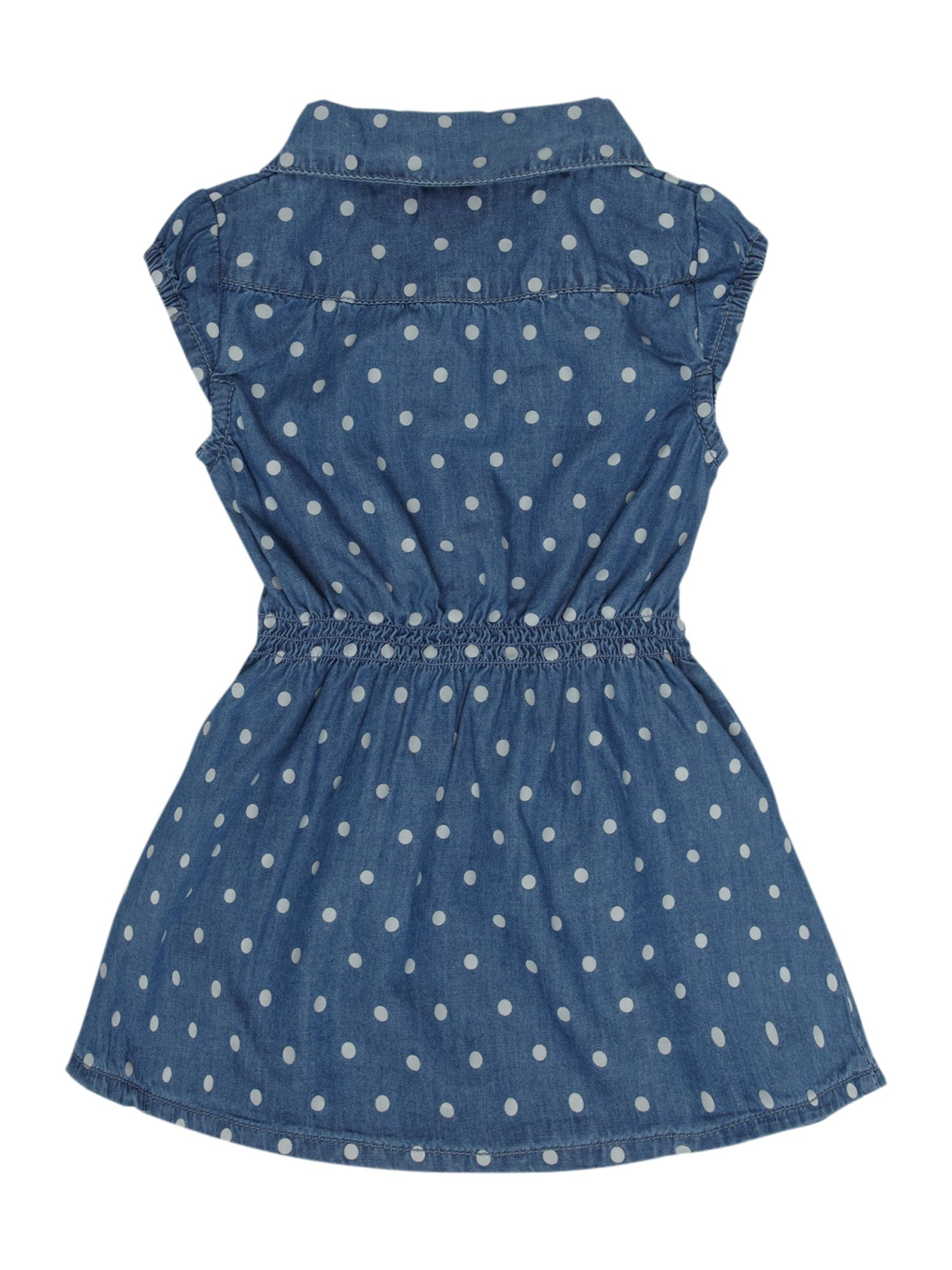 Girl`s spot denim dress