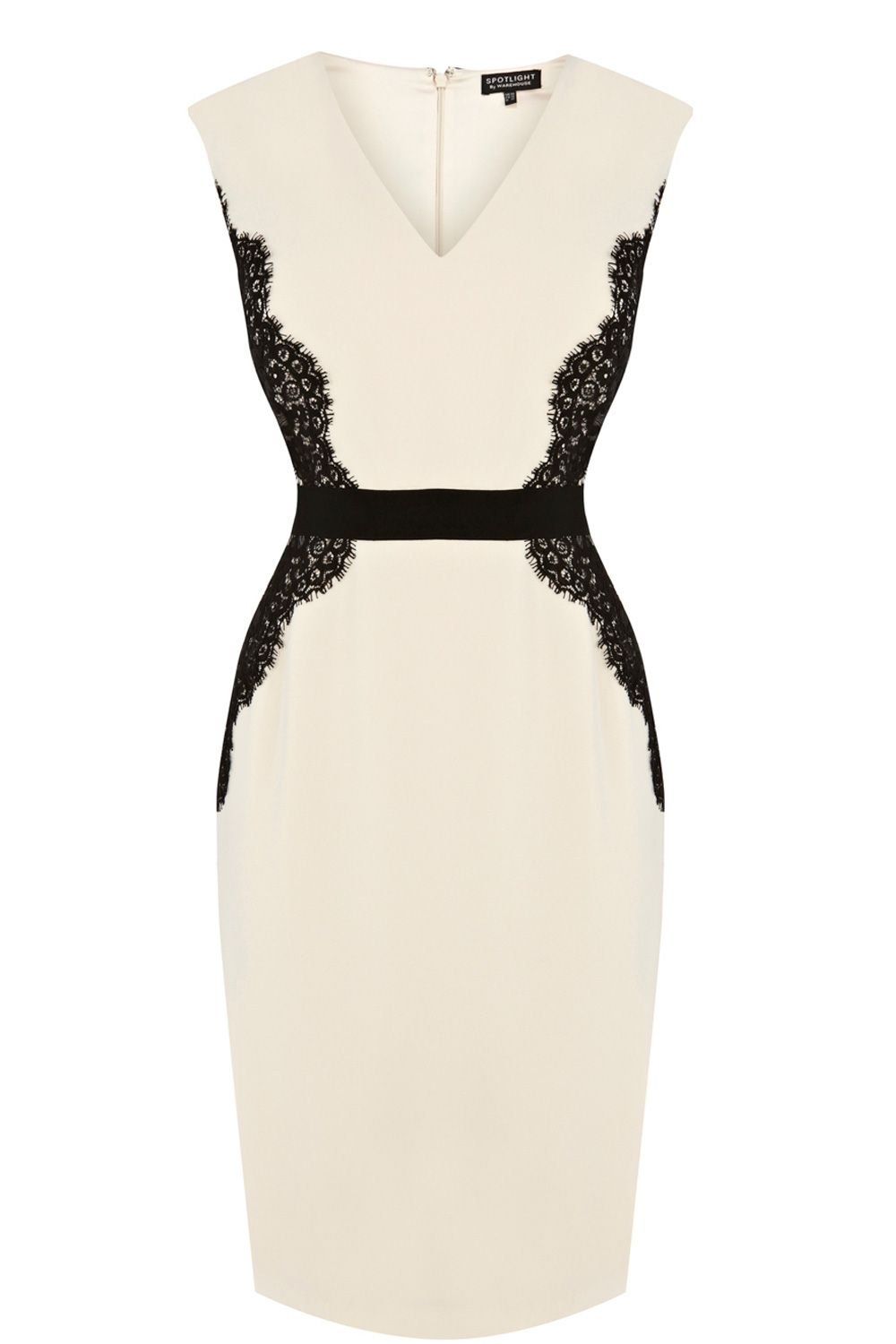 Lace overlay pencil dress