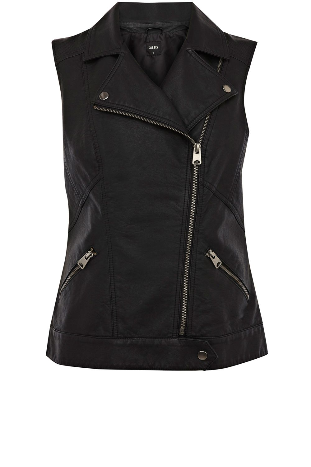 Pu perforated gilet