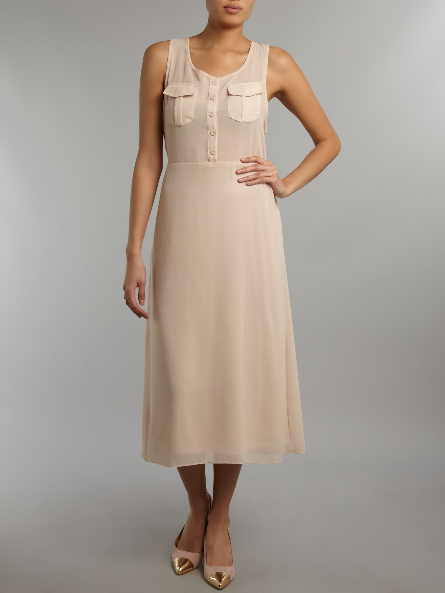 Midi chiffon dress
